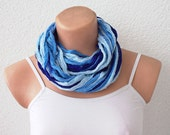 FREE SHIPPING Blue Lace Shades Funky Scarf