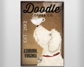 DOODLE Free CUSTOMIZATION Goldendoodle Labradoodle Coffee or Tea Sign Gallery Wrapped Canvas Wall Art Ready-to-Hang Doodle Free Proof