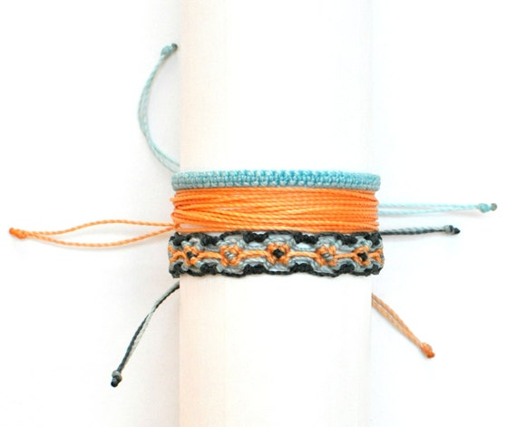 micro macrame cord micro macrame string bracelet grey thread by 9892