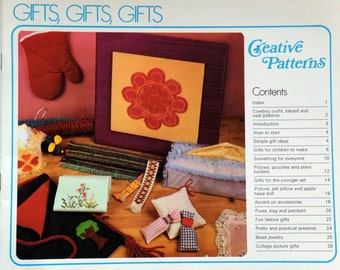 1977 GIFTS Creative PATTERNS CRAFT Book