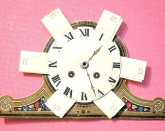 """Vintage GET WELL CARD - Unique Antique 1920s Gold Leaf Get Well Clock Card w/ 6 Little """"Sunshine Powders"""" Enclosed"""