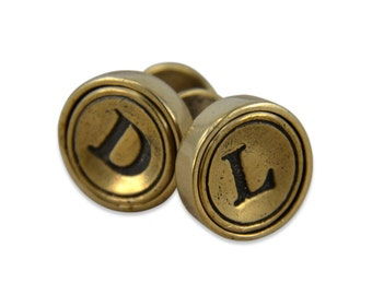 Personalized Initial Cuff Links Letter Cuff Links - Monogram Cuff Links
