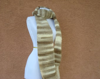 Cappuccino - Brown, Tan, and Cream Scarf for Men or Women - Unisex Scarf - Unforgettable Scarf - Crochet Scarf - Crocheted Scarves -