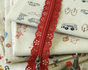 RUBY Red Lace Zipper deco zip
