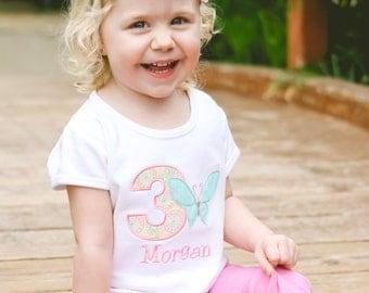 First Birthday Shirt - Girls First Birthday Shirt - Butterfly Birthday Shirt - Butterfly Shabby Chic Party