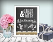 Cards & Gifts Wedding Sign Chalkboard Printable 8x10 PDF DIY Burlap And Lace Rustic Shabby Chic Woodland
