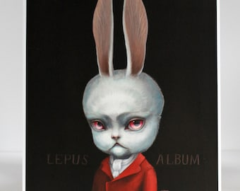 The White Rabbit - Limited Edition Alice in Wonderland signed numbered 8x10 pop surrealism Fine Art Print by Mab Graves