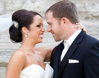 BRIDAL COMB,wedding comb,wedding hair comb , crystal hairpiece,bridal head piece with SWAROVSKI Crystals - Margaret