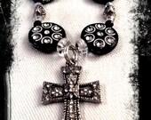 Silver Cross Necklace, Black Cross Necklace, Cross, Cross Necklace, Cross Pendant Necklace, Easter Necklace, Easter Jewelry, Easter Gift