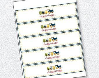 Choo Choo Train Party PRINTABLE Drink Wrapper by Love The Day