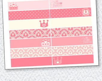 Pink Princess Party PRINTABLE Flags (INSTANT DOWNLOAD) from Love The Day