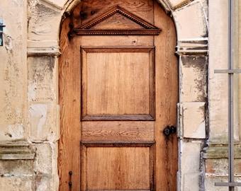 Brown Door Photography Print - Denmark Photography - Kronberg Castle Photograph - Travel Print Old Wood Door Photo Danish Wall Art