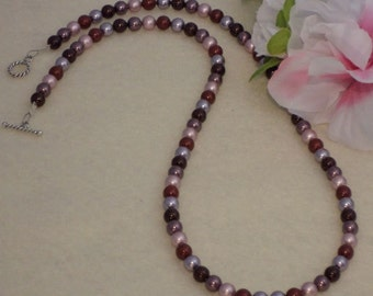 Swarovski Crystal Pearl Necklace In A Multitude Of Colors  FREE SHIPPING