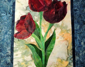 Tulip Quilted Wall Hanging Pattern