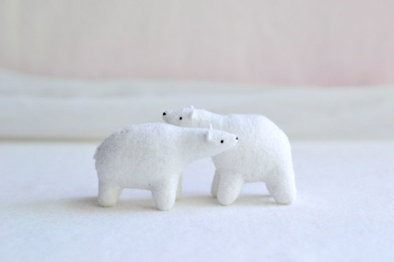 polar bear - bear soft sculpture
