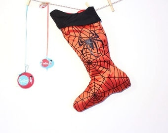 Spiderman Christmas Stocking:  Holiday stocking for men