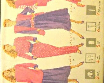 Butterick 4225 Jacket, Vest, Top, Skirt, Pants, and Sash Pattern, Sizes XS, S, M