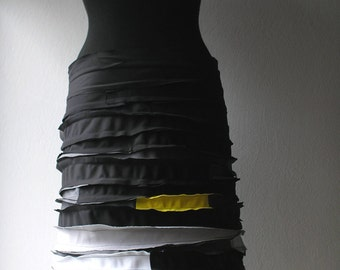 Sale---Skirt, black with yellow combination