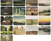 A. Kuindzhi, Set of 17 Vintage Prints, Postcards - 1988. Fine Arts, Moscow