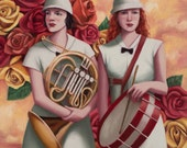 Rose Parade Band - Fine Art Print