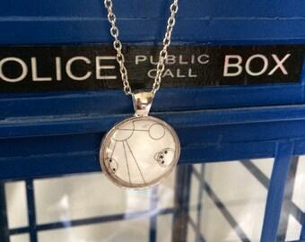 Allons-y Gallifreyan Pendant - Translation - Gallifrey - Tenth Doctor - Doctor Who - Custom - Cosplay - Costume - Summer - Graduation Gift