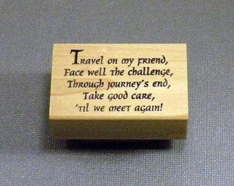Travel and Friendship Rubber Stamp