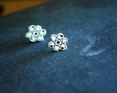 Atom Earrings -- Atom Studs, Geekery Jewelry, Science Studs, Funky Studs, Unique
