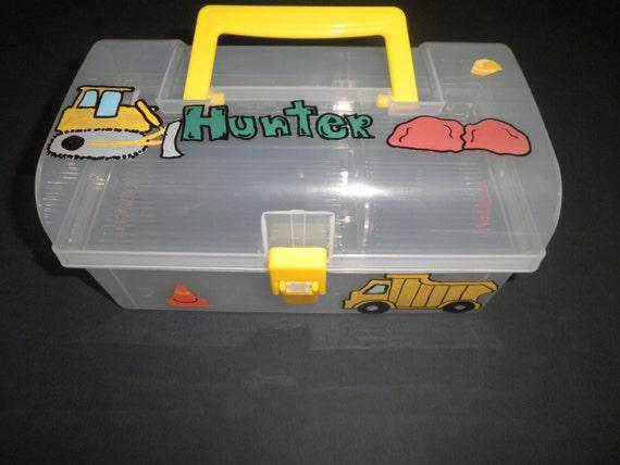 Construction Truck Portable Activity Box Birthday Gift