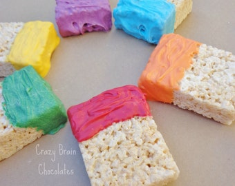 Colorful Paint Brush Rice Krispie Treats (12)
