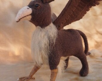 Griffin - made to order, soft sculpture griffin, needle felted griffin, harry potter, wizards
