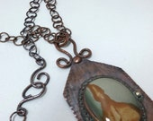 Large copper necklaces, owyhee jasper necklaces, big & bold Copper Necklaces Jasper and Jewelry, Artisan Crafted Copper Necklaces