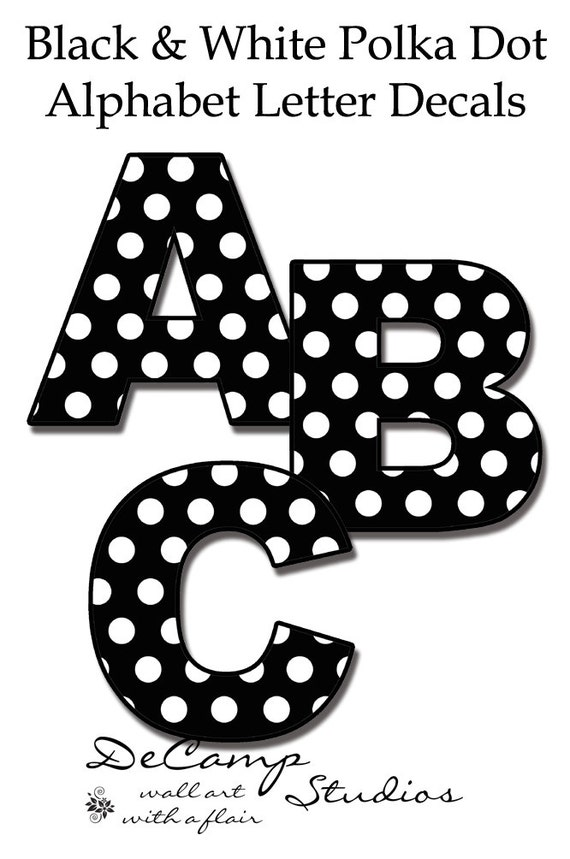 letter a with polka dots nursery name decals polka dot letters wall word stickers 22783 | il 570xN.565436926 11nh