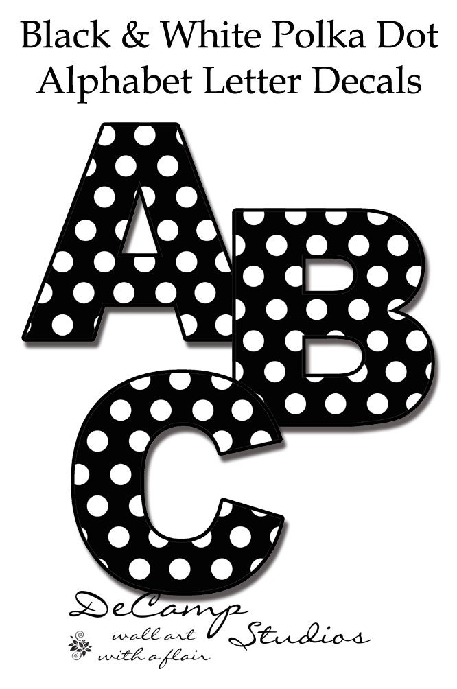 polka dot letters nursery name decals polka dot letters wall word stickers 24021 | il fullxfull.565436926 11nh