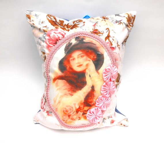 Victorian Lady Pillows : Cottage Chic Countess Pillow Victorian Lady Feminine Floral