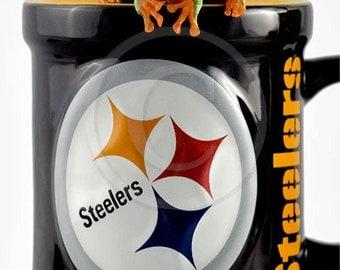 Pittsburgh Steelers, Frog on The Steelers Mug, Pittsburgh