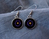 Purple Shield Earrings - ...