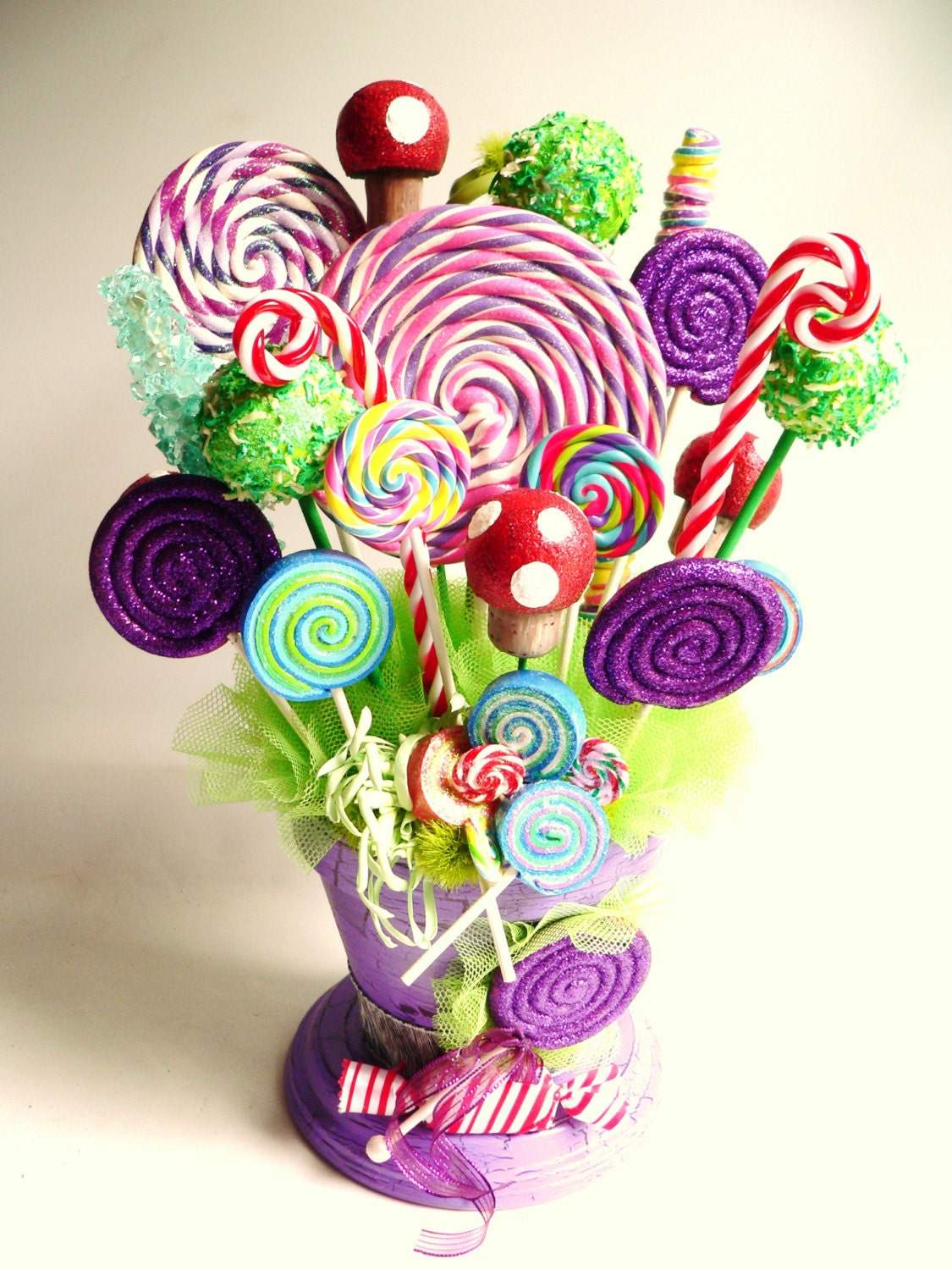 Fake Candy Centerpiece Fake Lollipops Rock By