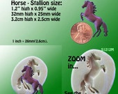 Horse Mold Stallion Flexible Silicone - Resin - Polymer Clay - Soap - Wax -  FOOD Safe - Fondant - Chocolate - Candy - Sugar S1212M