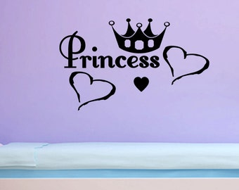 Wall Quotes Princes Removable Wall Sticker Nursery Wall Decal Quote Girls Bedroom Quote Girls Wall Quote Kids Wall Art (C127)