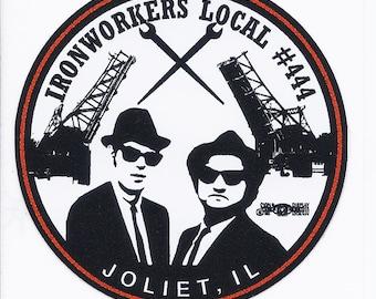 hard hat sticker union made in usa vinyl ironworker sticker
