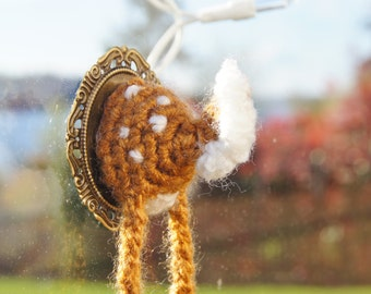 Miniature Deer Butt Taxidermy Crochet Amigurumi Plush