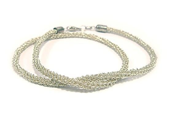 CUSTOM ORDER for Patti _Silver Necklace Chain Rope Wire Crochet Minimal Jewelry Quality Handmade Tubular Cord Nechkace