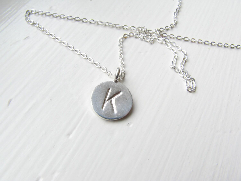 custom sterling silver letter necklace silver monogram