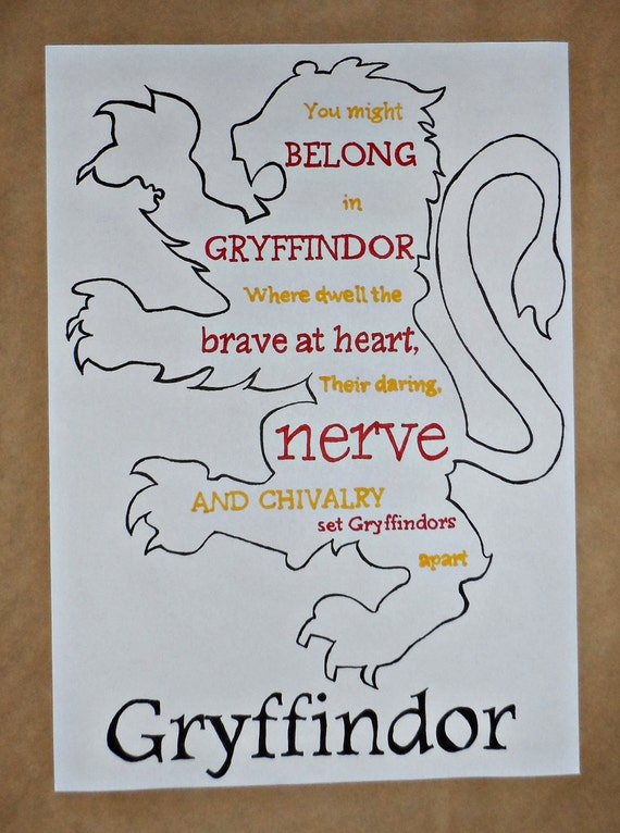 Harry Potter Gryffindor Lion Drawing And By DarkArtsWitchCraft
