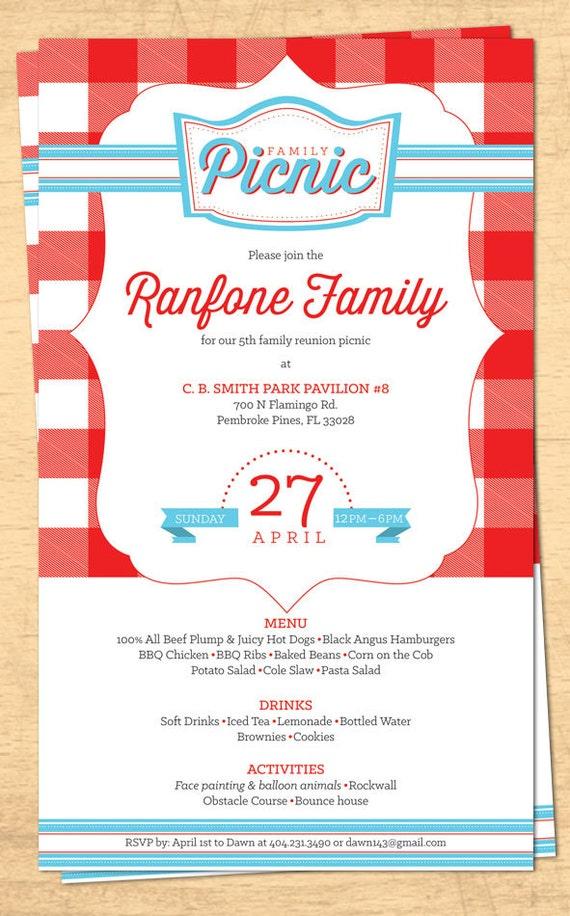 family reunion picnic invitation bbq invitation 4th of. Black Bedroom Furniture Sets. Home Design Ideas