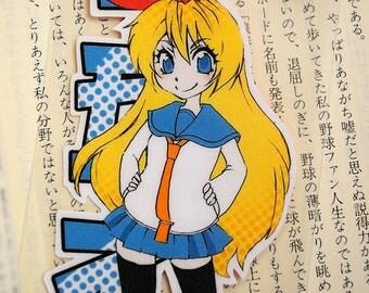 Laminated Bookmark (Business card size) /Nisekoi / Chitoge / Manga / Anime