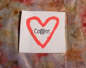 Coffee Heart Patch
