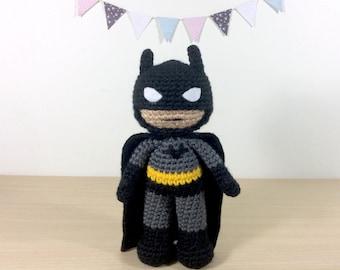 Amigurumi Batman Deutsch : Batman amigurumi Etsy