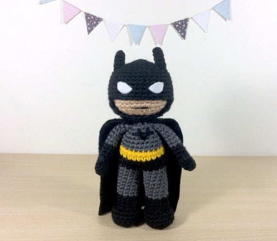 Batman Amigurumi Crochet Plush Doll