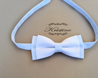 Mens Light Blue Bow Tie. Pre-Tied Bow Tie. Handmade Bow Tie. LIMITED EDITION Bow Tie. Double Bow Tie gift for him